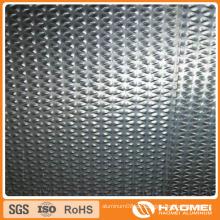 Konkav-konvex / halbkugelförmig / klassisch orange PEE / flach-top Kiesel / gewölbt / Wove Aluminium Prägefolie