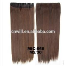 2014 New 24inch color 2 mix 30 Long Women Ladies Clip In On Hair Extensions Synthetic Hair