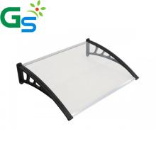 Cheap Price Diy Black Plastic Bracket Polycarbonate Hollow Sheet Sunshade Aluminum Awning