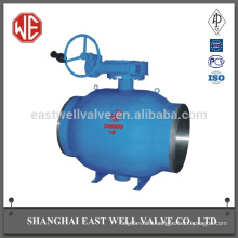 Pneumatic welding manufacture fully welded ball valve