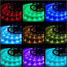 DC5V 5M/roll 16.4FT SMD 5050 RGB white PCB Waterproof 300 LED Flexible 3M Tape Strip Light with factory price