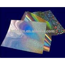 Película de BOPP holográfica de material de embalagem / filme BOPP de material de embalagem / filme holográfico de PET