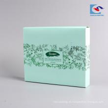 El logotipo personalizado imprimió la caja de empaquetado de papel plegable para la máscara facial