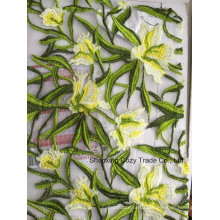Nouveau style 100% Polyester Water Dissolving Broderie pour Vêtements Fashion Dressing