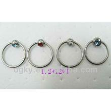 Circular barbell nariz anillo