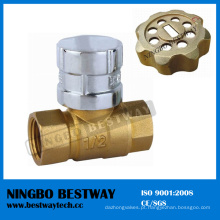 Válvula de esfera Lockable de bronze magnética com chave (BW-L07)