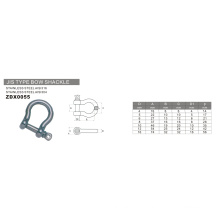 Quincaillerie en acier inoxydable JIS Type Bow Shackle