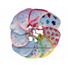 Werbe-Baumwollweiß-Druck-kundenspezifische Schnur, die Babylätzchen schließt