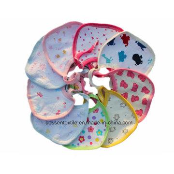 Babete de bebê promocional de algodão branco estampado personalizado