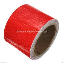 """2"""" X10′ cinta de 3 m reflectante de seguridad rojo alerta de la evidencia"""
