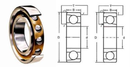 blueprint angular contact ball bearing