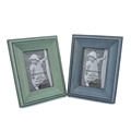 Yellow Wash Finish Word Wooden Photo Frame for Home Decoration