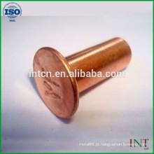 novos produtos rebites ocos de cobre de alta qualidade