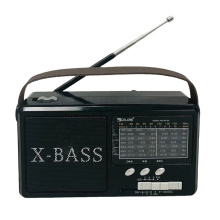 GOLON RX-66 FM AM SW 3 Band Vintage Retro Radio Rechargeable Radio With Solar With Light With USB SD TF