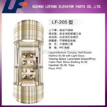 Cápsulas elevador para ascensor de cristal panorámico, buen precio cápsulas ascensor para pasajero