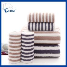 Algodón puro Algodón sólido del estilo simple de Muji teñió la toalla del color de la tira