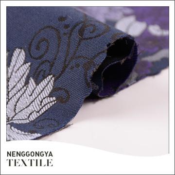 Custom made Atacado elegante poli tecido jacquard cortina de tecido
