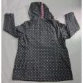 Yj-1067 Printed Black Microfleece Waterproof Breathable Womens Hooded Softshell Jacket