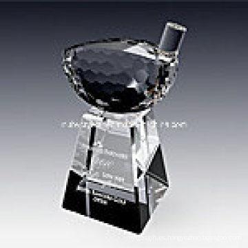 Crystal Golf Driver Trophy Award 1020