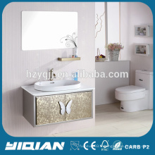 Évier simple moderne SS Vanity Miroir mural en acier inoxydable