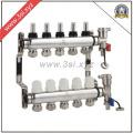 5 Wege Fußbodenheizung Wasser Segregator mit Gauge (YZF-M801)