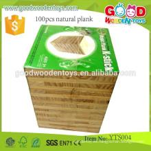 Juguetes de Montaje para Niños Educativos Preescolares 100pcs Natural Plank