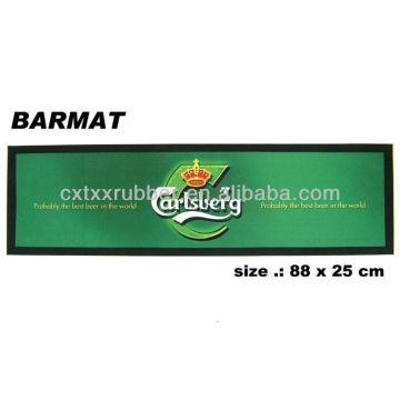 blank bar runner,no print bar mat, bar mat material