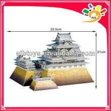 89pcs World Architecture HIMEJI-JO IN JAPAN 3D Model Puzzle DIY Paper Jigsaw Puzzle For Children