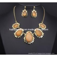 Conjunto de jóias de pedra quadrado (xjw13214)