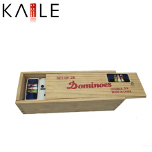 Juguete de caja de madera divertido de alta calidad de los dominós