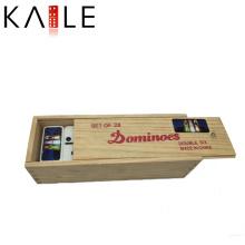 Jouet de boîte de dominos en bois drôle de haute qualité