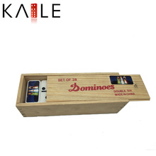 High Quality Funny Wooden Dominoes Box Toy