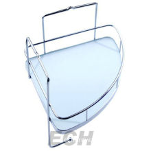Stainless Steel Bathroom Glass Corner Shelf