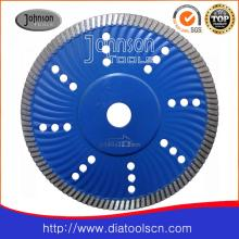 180mm Sintered Turbo Wave Saw Blade for Cutting Hard Granite