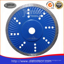 180mm Sintered Turbo Wave Saw Blade for Granite Cutting
