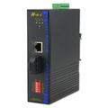 10-100 PoE Industrial Ethernet-to-fiber Converter