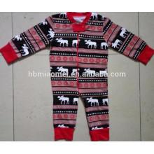 2016 pijamas de la familia del pijamas de la Navidad del bebé infantil de la venta caliente de la Navidad en tamaño del niño, de los niños y del adulto