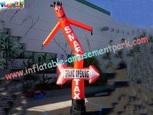 Custom Advertising Inflatables Air Dancer Rip-stop Nylon Parachute Material For Festival