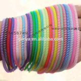 Fashion plastic bi-color spiral cord in Jelly transparency colors
