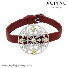 74629 мода новое Прибытие кристаллические ювелирные изделия Браслет Красный кожаный