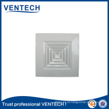 Sistema de ventilación HVAC Ventilación Difusor de aire de piso de suministro de aluminio