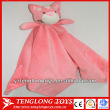 soft and pink household cat plush baby blanket