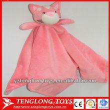 Мягкое и розовое домашнее одеяло плюша плюшевого кота