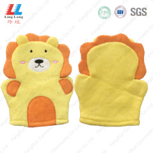 Lion style children bath gloves product