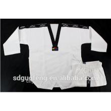 Taekwondo roupas wtf com nervuras taekwondo tecido uniforme
