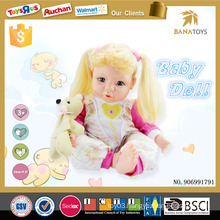 Pretty american girl doll toy 16 inch silicone child doll with sound