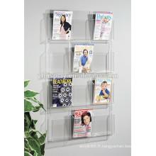 porte-brochure acrylique sur mesure, porte-acrylique, porte-document acrylique pour montage mural