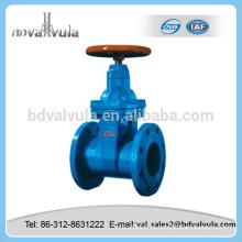 Válvula de compuerta de sellado suave DIN Válvula de compuerta de hierro fundido