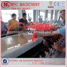Door board making machine Wood powder add PVC powder WPC door board making machine