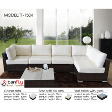 Contemporary indoor & outdoor sofa furniture of rattan.